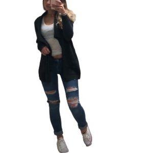 Garage Distressed Hi-Waist Skinny Jeans